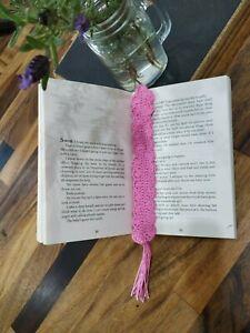 Handmade bookmark pink crochet lacey