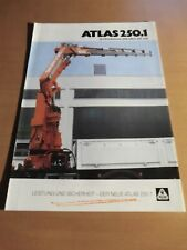 Prospekt ATLAS Weyhausen Ladekran 250.1 Ausgabe 1998