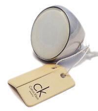 CK CALVIN KLEIN ANELLO DONNA ACCIAIO BIANCO 12 - WOMAN RING WHITE STEEL NUOVO