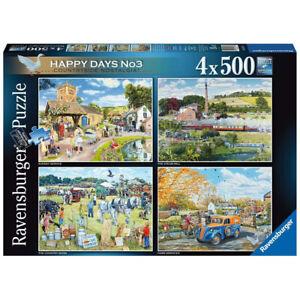 Ravensburger 4x500 Piece Jigsaw Puzzles Happy Days No.3 Country Nostalgia! 16578