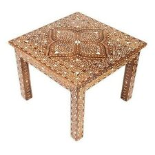 Syrian Bone Inlaid Square Coffee Table
