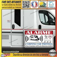 lot de 2 Stickers autocollant Alarme camping car gsm gps sirène sécurité antivol