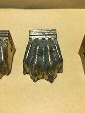 4 vintage  Table style Claws caps lion Solid Brass paw