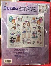 "PAPER DOLLS Boy/Girl ~ Counted Cross Stitch kit by Bucilla ~ 14.75"" X 12.5"" NEW"