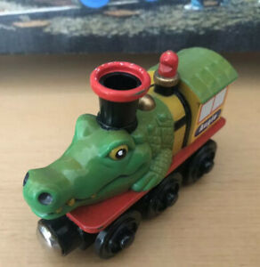 Alpha ZOO Express Wooden Train Augie the Alligator! THOMAS, BRIO Compatible!