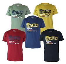 Maglia T-Shirt Uomo RIFLESSI 2918 VAR14 con Stampa Manica Corta Navy Blu Senape