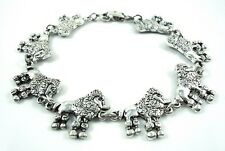 6.75 inch New cute Poodle Lovers antique silver plated Bracelet 17 cm