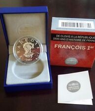 "France 10 Euro Silver Proof Coin 2013 Kings and Presidents ""Francois Francis I"""