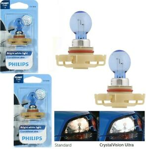 Philips Crystal Vision Ultra PS24W 5202 H16 24W Two Bulbs Fog Light Replacement