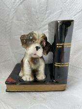 Vintage Puppy DOG on BOOKS Book End Terracotta Pottery ?
