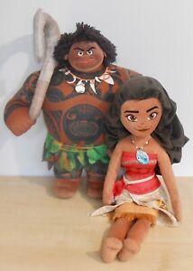 "Disney - Maui & Moana plush toys - 17"" tall"