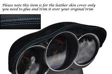 BLUE STITCH FITS  MAZDA RX8 03-12 SPEEDO GAUGE HOOD PU SUEDE SKIN COVER ONLY