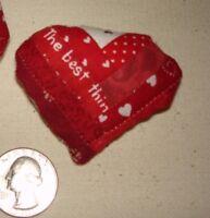 HEART MINIATURE LOG CABIN QUILT BLOCK PIN pattern~VALENTINE