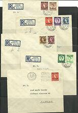 Marruecos Ingles. Lote de  cartas con sellos de Marruecos