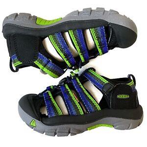 Keen Newport H2 Water Friendly Sandal Toddler Boys Black Blue Green Shoe Hiking
