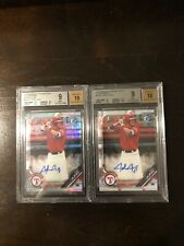 Josh Jung - 2019 Bowman Chrome Refractor BGS 9 & Base Auto BGS 9 Lot