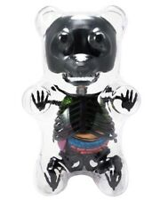 Anatomy Gummy Bear Black Metallic Skeleton Puzzle Organ Gift Ornament Gothic Fun