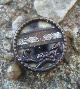 Antique Metal & Celluloid Button.