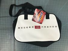 "Dickies Bag  Blowler 12""x3.5""x7.5"" Women Purse Bag White Punk Studs greaser"
