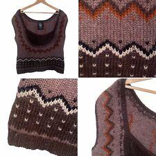 🌟Noa Noa Size L Knitted Alpaca Z& Wool Knitted Tank Top Jumper Sweater Womens