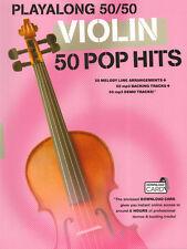 Playalong 50/50 Violin 50 Pop Hits aktuelle Pop Songs Noten für Violine Geige