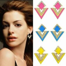 Rhinestone Enamel Stud Fashion Earrings