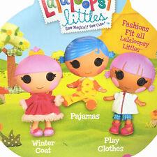 Lot 3 New Lalaloopsy Littles Outfit Clothing Winter Coat/Pajamas/Play Clothes