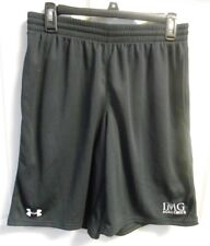 IMG Academy Under Armour Men's M Loose Fit Shorts Black 2 pockets mesh style EUC