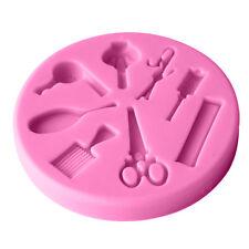 Hair Beauty Tool Fondant Cake Mold Silicone Mould Sugarcraft Baking Vogue