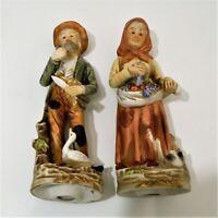 HOMCO Porcelain Statue Figurines Old Man & Woman Set #1417 Vintage EUC