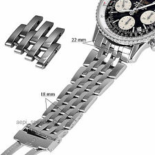 ONE BREITLING NAVITIMER OR MONTBRILLANT 18MM STAINLESS  STEEL SPARE LINK 22-18