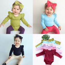 Summer Newborn Baby Girl Boy Romper Bodysuit Long Sleeve Outfit Jumpsuit Clothes