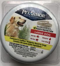 PetArmor Flea & Tick Collar - 2 Count - LARGE Dogs - 12 Month - New/Sealed