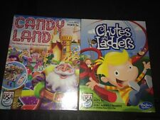 NEW CANDYLAND AND CHUTES AND LADDERS CLASSIC KIDS BOARD GAMES FACTORY SEALED Lot