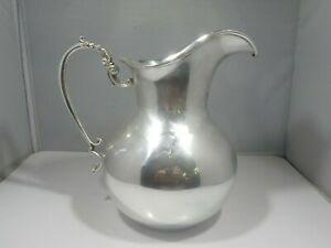 FLORENTINA COLOMBIA 900 SILVER  WATER PITCHER 17.2 TROY OUNCES