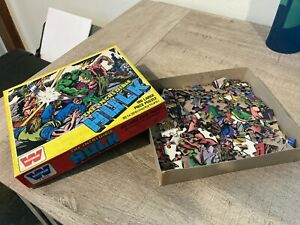 The Incredible Hulk Vintage Whitman 180 Large Piece Puzzle EXC