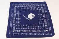 Vintage CARHARTT 100% Cotton Blue Bandana Handkerchief Scarf USA
