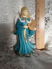 "Vintage Harp Playing Girl Angel Porcelain Ceramic? Made in China 6.5"""
