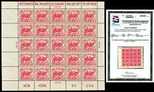 "Scott 630 1926 2c White Plains Dot Over ""S"" Issue Mint Sheet VF NH with PSE CERT"