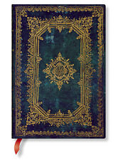 Paperblanks lined Writing Journal Astra Nova Stela Green Gold Midi Size 5x7 New