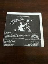 1978 Vintage 5.25X5 Album Promo Print Ad For Tremors Debut Fiction Records