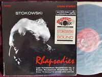 Audiophile Stokowski Liszt Enesco Rhapsodies RCA Stereo LSC 2471 2S/2S TAS ED1
