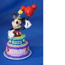 "Mickey InspEARations ""Birthday Cake"" Figurine NEW in Box FREE SHIPPING"