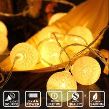 2.2M 20 LEDs Cotton Ball LED String Lights Party Wedding Christmas Yards Decor