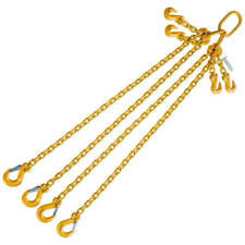 "3/8"" x 4' G80 Adjustable Chain Lifting Sling with Sling Hook Quadruple Leg"
