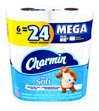 Charmin  Ultra Soft Mega  Toilet Paper  6 roll 284 sheet 185 ft.