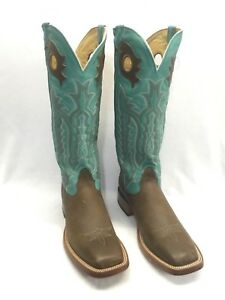 Men's Nocona Boots, Brown Square Toe w/Jade Tops Style 1722066B10