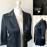 JOSEPH Black Jacket Blazer 8 10 Dressy Sheen Evening Party Smart Formal Blogger