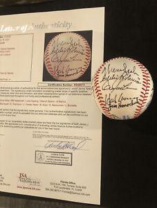 (18) MLB Legends Signed Baseball! JSA LOA Hank Aaron, Maz, Spahn, Appling LOADED