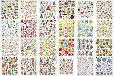 Colourful Glitter Stickers Sheet 15cm Self-Adhesive Embellishments Craft Kids